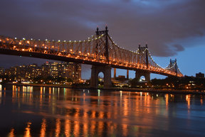 Roosevelt Island at night