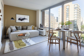 Bathe your custom designed apartment in natural light with floor-to-ceiling windows. Enjoy sweeping views of the Hudson River, Roosevelt Island parks and the Queensboro Bridge.
