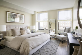 Light filled bedrooms with spacious closets in each, customized to be the smartest, best-dressed closets in Boston.