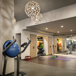 On-site, state-of-the-art fitness center curated by Equinox.