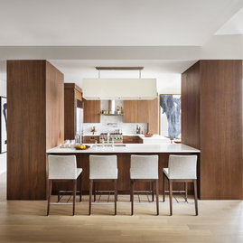 State-of-the-art chef's kitchens include a top-of-the-line appliance suite, featuring Subzero, Wolf and Miele appliances.
