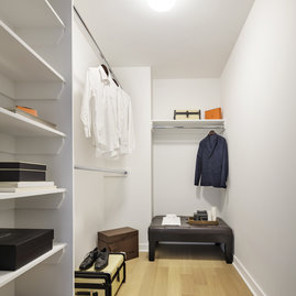 Large, customized closets make the most of your residence's storage space.
