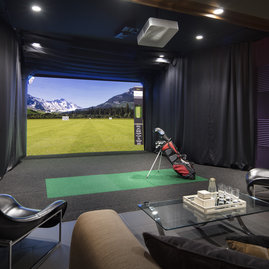 Clock your swing speed and improve your game with MiMA's brand new golf simulator.