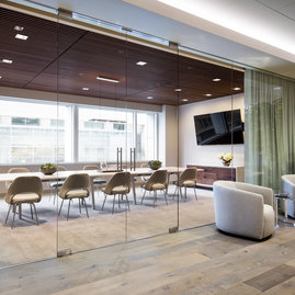 A fully furnished and wired conference room, large enough to comfortably seat tenˇpeople, is available for residents' use.