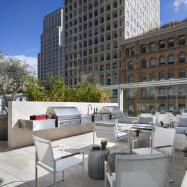 Entertain on your own rooftop terrace with BBQ dining and Bay Bridge views.