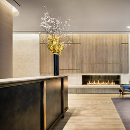 At 456 Washington, lush amentity spaces were designed by David Rockwell.