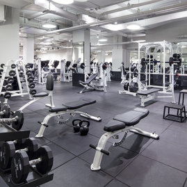 Getting to the gym is easy when you have a state-of-the-art fitness center in your building.