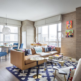Acclaimed designer Jonathan Adler put his touch of whimsy on the model apartments.