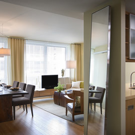 Oversized windows let in plenty of light and views of West Chelsea.