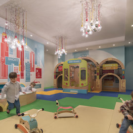 In the custom Children's Playroom, designed by children's museum design experts ROTO, your little adventurer can explore.