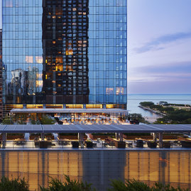 Live on the lake, among Chicago's iconic skyscrapers and nearby some of the most sophisticated stores, hotels, and restaurants in town.