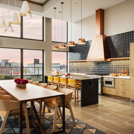Plan your cooking classes in the stunning on-site demo kitchen.