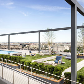 Landscaped rooftop terrace designed by MPFP.