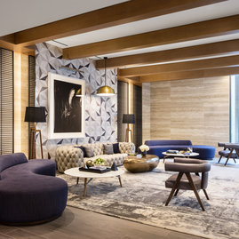 Relax with a best-seller or meet friends in the resident lounge, a distinctive space crafted with artisan designed furniture and finishes sourced from around the world.