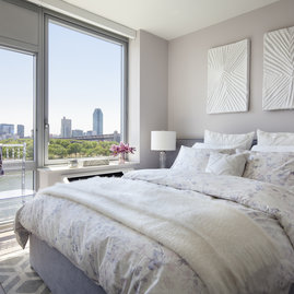 With floor-to-ceiling windows, enjoy spectacular views without even getting out of bed.