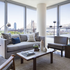 Enjoy sweeping views of the Hudson River, Roosevelt Island parks, and the Queensboro Bridge.