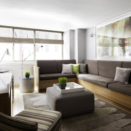 A fully furnished and wired entertainment lounge, large enough to seat 8 guests, is available for residents' use.