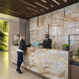 Our skilled lobby staff is trained to deliver outstanding service and to anticipate every need of our residents.