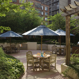 Step out onto the garden patio from the indoor entertainment lounge to relax or socialize with family and friends.