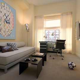 Apartment layouts are designed to provide flexible space.