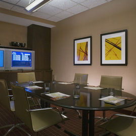 A fully furnished and wired conference room...