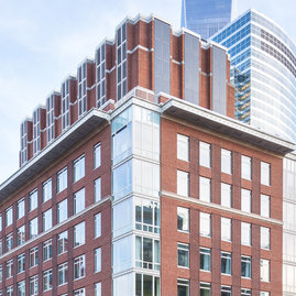 Designed by Robert A. M. Stern Architects, Tribeca Green recalls the historical architecture of buildings in the adjacent Tribeca neighborhood.
