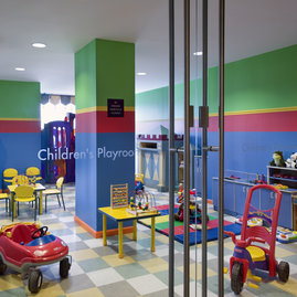 The children's playroom at Tribeca Park is stocked with toys, books, and games to delight your young explorer.