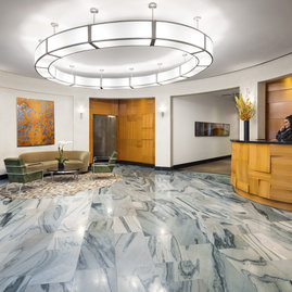 The lobby features a 24-hour concierge and doorman for 5-star service.