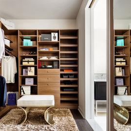 Spacious walk-in closets custom to each apartment.