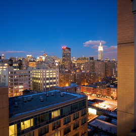 Stunning location offers sweeping Manhattan views.