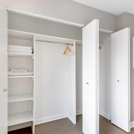 Generous walk in closets.