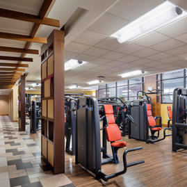 State-of-the-art on-site fitness center is available only to residents.