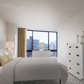 The Rockwell Group designed the interiors of The Lyric, and spacious bedrooms are a feature.