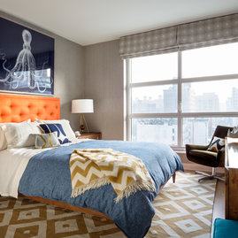 Open, light filled bedrooms offer ample space and storage.
