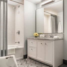 Extra bathrooms allows extra space and storage for family and guests.