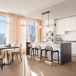 Apartments feature expansive windows designed for maximum light, views, sound attenuation and energy efficiency.