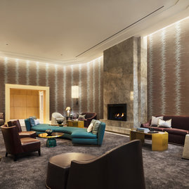Apartment lounge to allow residents to mingle.