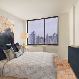 Inviting bedrooms with stunning city views.