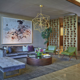Stunning lobby designed by celebrated Marmol Radziner + Associates.