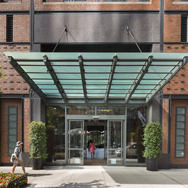 Our glass-encased lobby is just steps from the High Line.