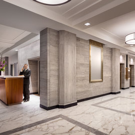 This landmark building features 24-hour lobby staff who are committed to the highest level of service.