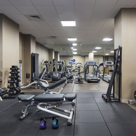 Our on-premises state-of-the-art health and fitness center includes cardio and strength equipment.