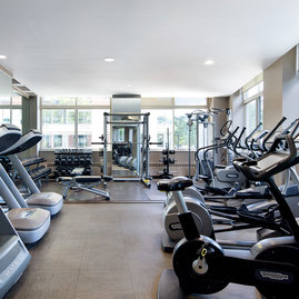 Fitness center is available exclusively to residents.