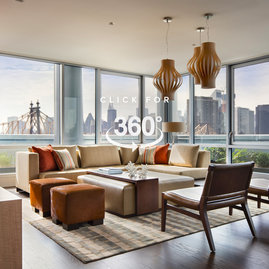 Our penthouse party lounge features a catering kitchen, a private terrace, BBQ grills, and electrifying views of the Manhattan skyline.