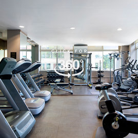 On-site fitness center is available only to residents.