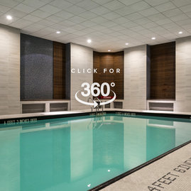 A heated swimming pool flooded with natural light, adjacent to a state-of-the-art health and fitness center, will inspire you to meet your fitness goals.