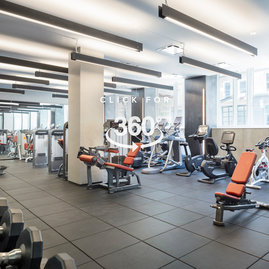 State-of-the-art fitness center with equipment curated by Equinox and private yoga and training studio.