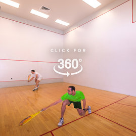 On-premises squash courts offer residents an exclusive perk.