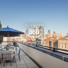Enjoy unobstructed views of the Empire State Building from the rooftop terrace.