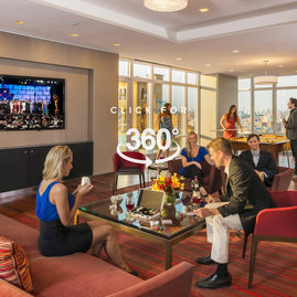Located on the 20th floor with breathtaking Central Park views, the entertainment lounge features a 20-by-60 foot sitting area, billiards, a walnut paneled bar, and Venato Travertine hearth.